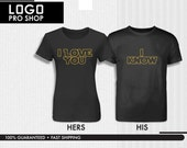 """I LOVE YOU Couples Shirt gift anniversary cute shirt for girlfriend, gift for boyfriend, stag gift,wedding gift for parents tshirt """"ER-SW03)"""