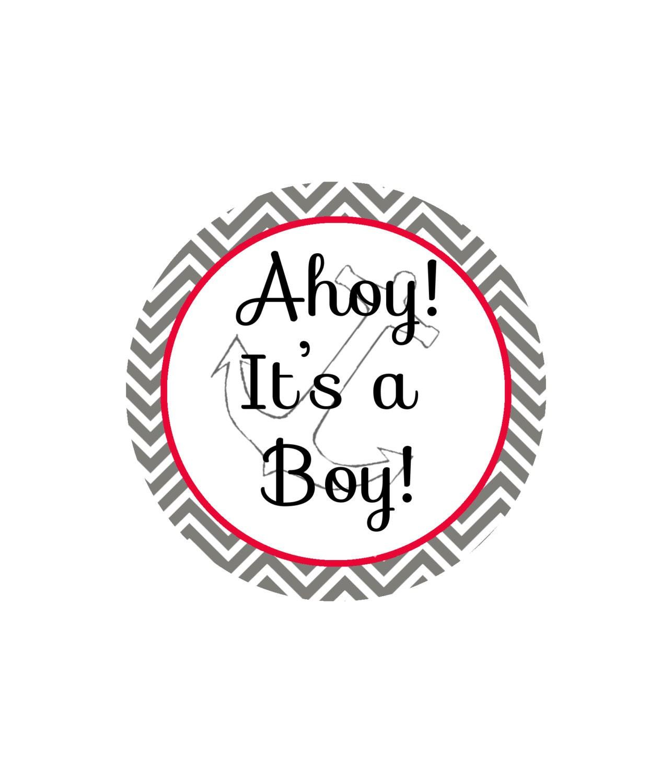Ahoy It s A Boy Baby Shower Decor Design Gift Tag