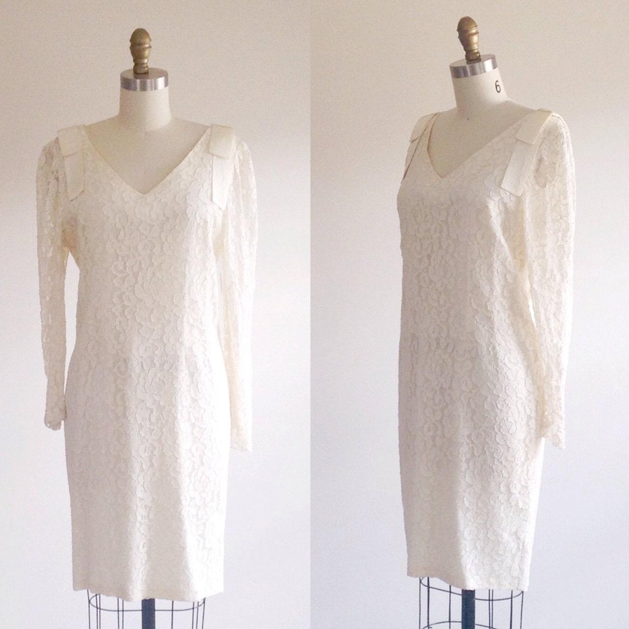 Lace wedding dress simple wedding dress ivory wedding dress for Simple ivory wedding dresses