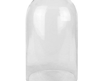 Glass Cloche Bell Dome with 10.5 inches Height and 6 inches Diameter - GDO110