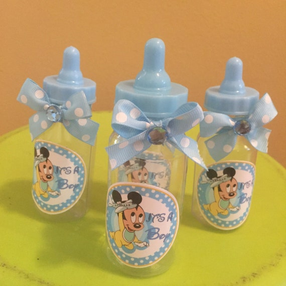 mickey mouse baby bottle shower party favors baby shower favors