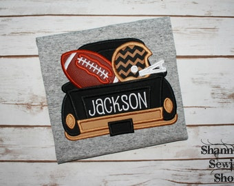 Black & Gold Saints Truck Shirt, Boys Football Shirt, Football Spirit Shirt
