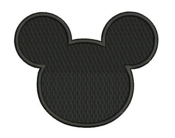 Mickey mouse ears filled embroidery pattern 4 sizes Machine embroidery design Instant Download