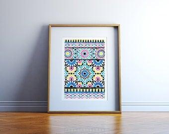 Watercolour Moroccan Pattern
