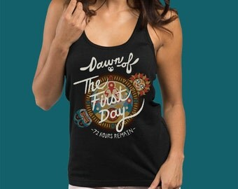 Legend of Zelda Majora's Mask Dawn Of The First Day Womens Tank Top