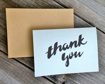 Thank You Cards, Thank You Notes, Shower Thank You Cards, Hand Drawn Cards, Thank You Card Set