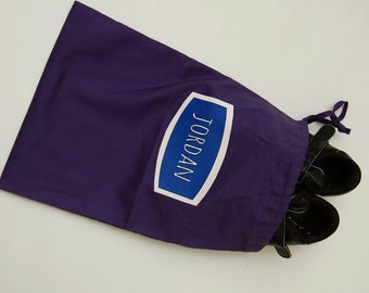 Personalize Drawstring Bag, Custom Bag, Shoe Bag, Child's Bag, Toy Bag, Kid's Toiletries Bag, Page Boy Gift Bag, Printed Name, 2 Sizes