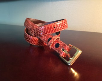 Genuine Snakeskin Belt, Small - Vintage