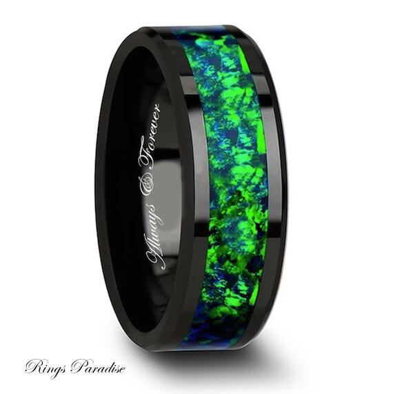 8mm Ceramic Ring Mens Ceramic Wedding Band By RingsParadise