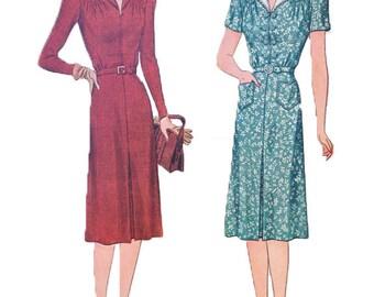1940s Simplicity 3676 Dress Size 36