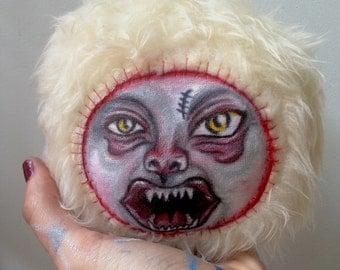 Astrid the Grouch - Weird Stuffed Animal Monster OOAK Doll handpainted