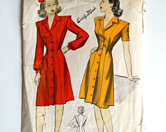 DuBarry Pattern 5964 - WWII Dress Pattern - 1940s Dress Pattern