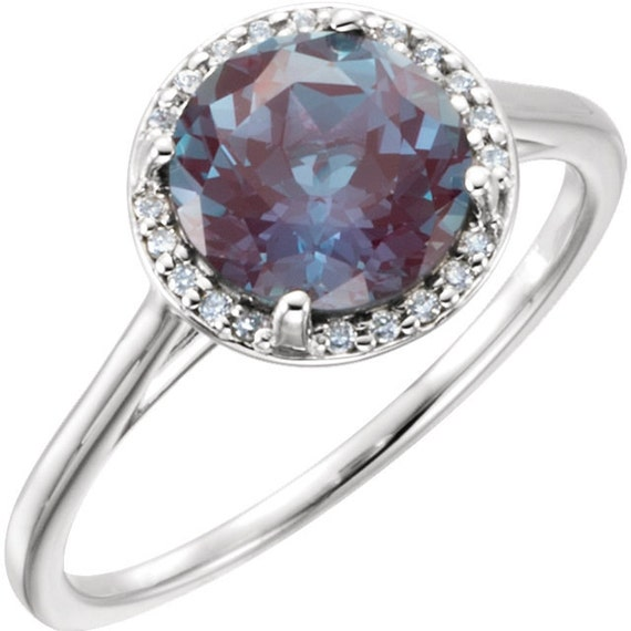 Real Alexandrite Engagement Ring