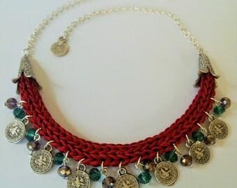 Turkish faddish style crochet necklace