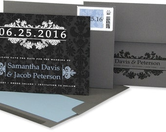 DIGITAL1: Damask Wedding Save the Date cards, Demask Save the Date cards, Elegant Save-The-Dates, Classic Wedding Announcements