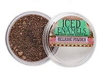 Iced Enamels Relique Cold Enameling Powders - Torched Copper Create Permanent Bond of Color on Metals SU52