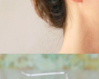 Leaves Ear cuff , Ear Climber, bridal earrings, wedding earrings, Sterling silver and Gold Earrings , ear jacket