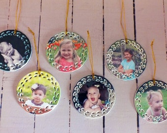 Photo Ornament | Personalized Ornaments | Babys First Christmas | Wedding Ornament | Unique Ornament | New Baby Gift | Holiday Decor
