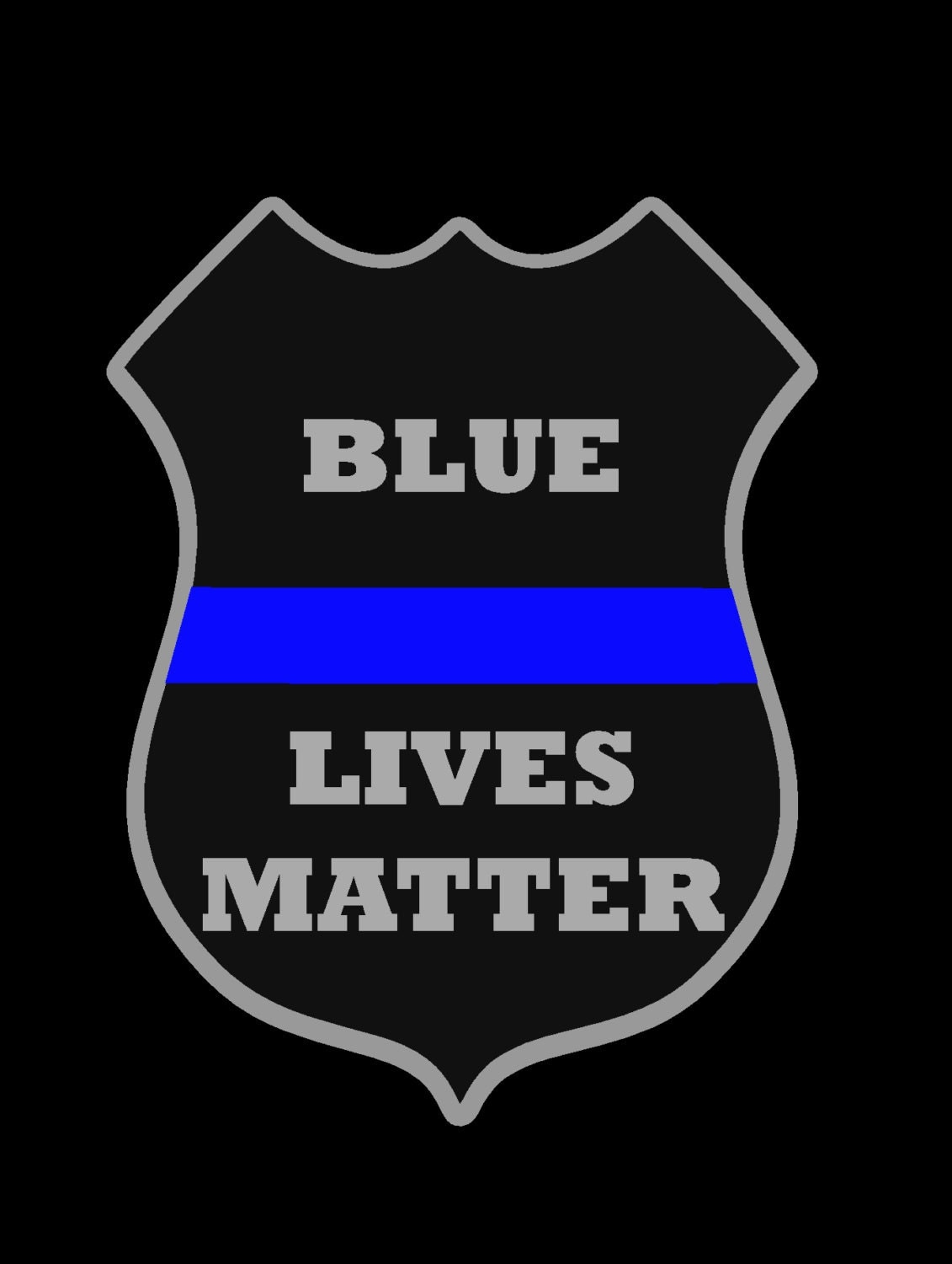 Blue Lives Matter Decal Police Badge Thin Blue Line Decal