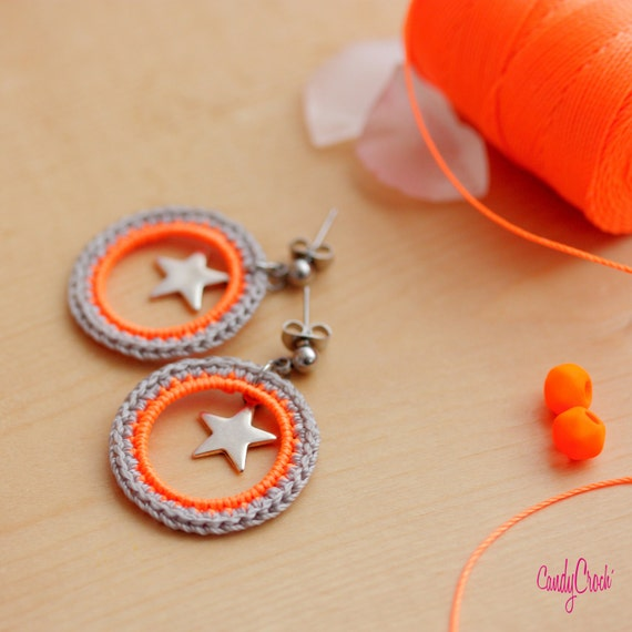 Articles similaires boucles d 39 oreille pour fille orange - Pelure d orange pour parfumer ...