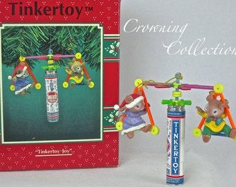 Enesco TinkerToy Joy Ornament Mice Hasbro Mouse Tinker Toy Treasury of Christmas Vintage Mouse