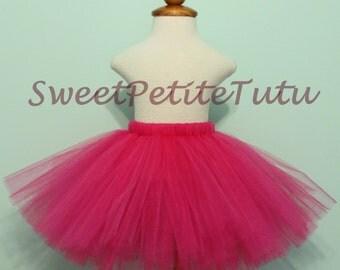 Raspberry Pink tutu, Fushia tutu, Dark pink tutu, Preemie, Newborn to 10/12, Brigh, Magenta, Baby Tutu, Birthday, Sweet Petite Tutu