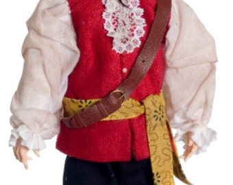 1:12 Scale Miniature Pirate Dollhouse Doll