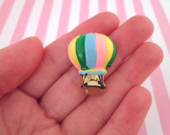 Resin Colorful Hot Air Balloon Cabochons, #666