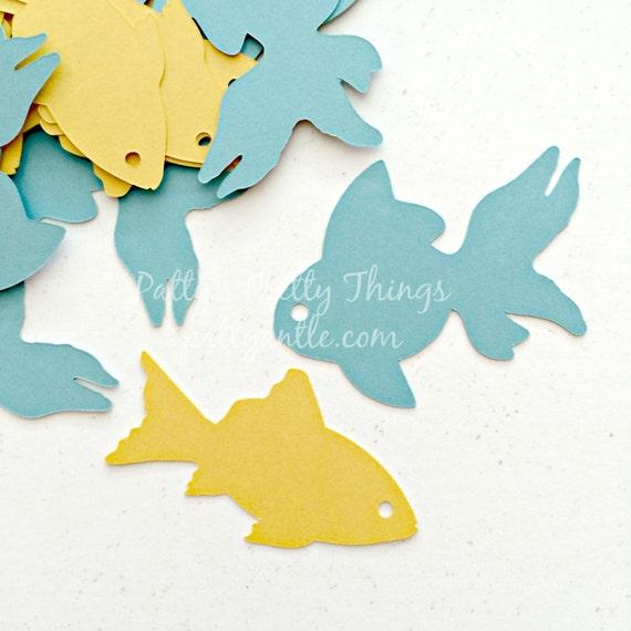 Fish Die Cuts Fish Confetti Goldfish Die By Pattyantlesprettys