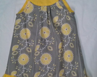 Ellen dress in gray and yellow size 2