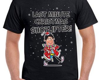 Last Minute Christmas Shoplifter Funnty Men's Christmas T-Shirt