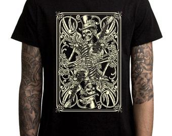Skeleton Playing Cards Men's T-Shirt