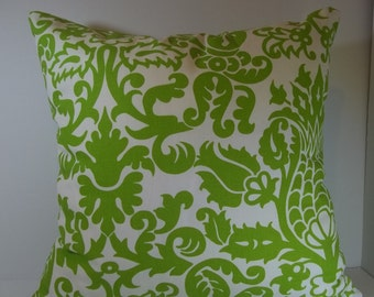 Chartreuse throw pillow cover 18 x 18 decorative pillow cover accent pillow