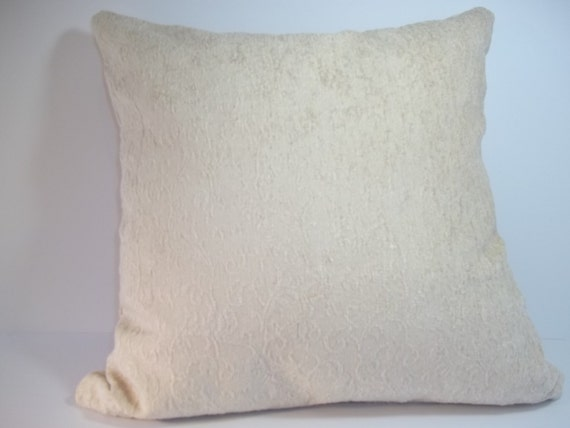Beige throw pillow cover 18 x 18 decorative pillow cover