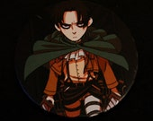 Levi - Attack on Titan button
