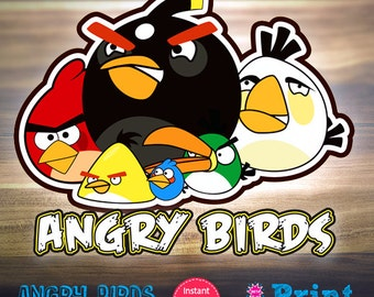Angry Birds digital cliparts for INSTANT DOWNLOAD!
