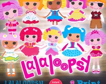 Lalaloopsy digital cliparts for INSTANT DOWNLOAD!