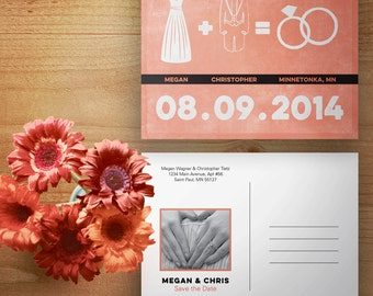 Custom Designed Math Style Save the Date - Digital File