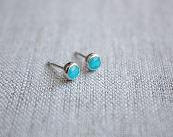 Amazonite Earrings, Sterling Silver Stud Earrings, Gemstone Stud Earrings, Gemstone Jewelry, Amazonite Jewelry, Jewelry Under 50