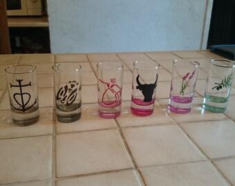 Custom glass hand painted