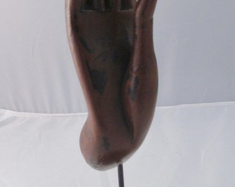 Wooden Buddha Hand on a stand