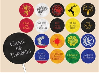 Game of Thrones Cupcake Topper - instant download