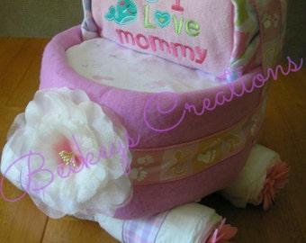 Diaper Carriage Cake