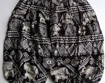 Kids Harem Aladdin Elephant Pants - Black