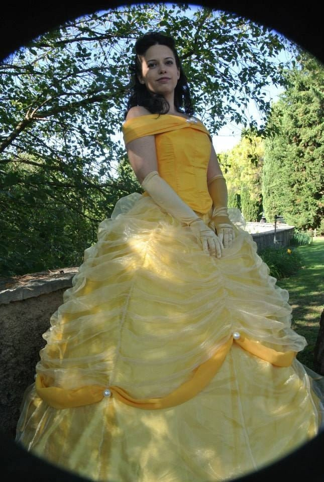 Belle la bella e la bestia vestito giallo disney costume for Decorazioni torte la bella e la bestia