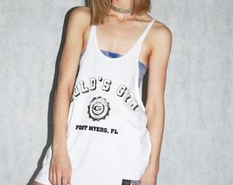 90s style Skater gym top oversized top dress sportswear grunge indie 8/10uk