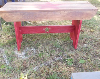 Country Distressed Wooden Benches