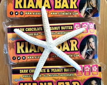 3 Bar Sampler Healthy Whole Foods Kiana Bars! REAL FOOD All Natural Ingredients! Dark Chocolate & Peanut Butter. 13g Protein, Almonds