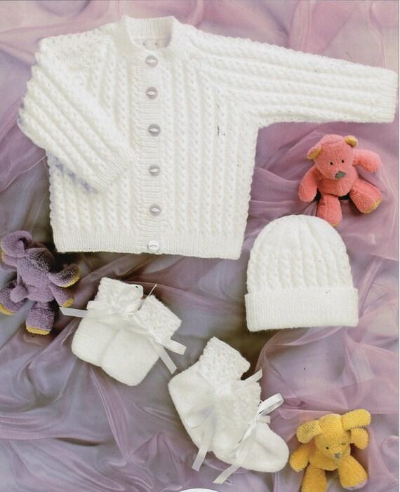 Baby KNITTING PATTERN pdf baby cardigan knitting pattern hat