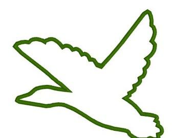 Embroidery Applique File Design Pattern Flying Mallard Duck